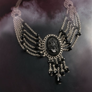 Elvira's Transylvania Cameo Necklace