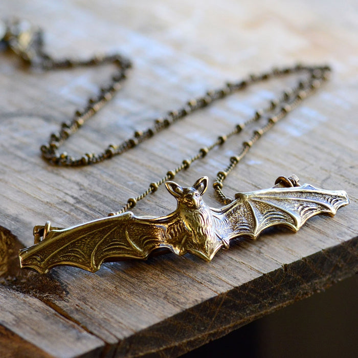 Elvira's Vampire Bat Necklace