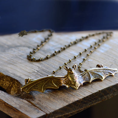 Elvira's Vampire Bat Necklace EL_N119