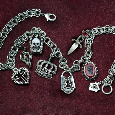 Elvira's Goth Queen Charm Necklace EL_N697