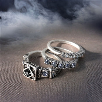 Elvira's Gothic Ring Trio
