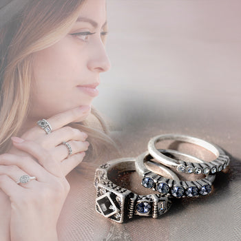 Summer Stack Ring Trio - sweetromanceonlinejewelry