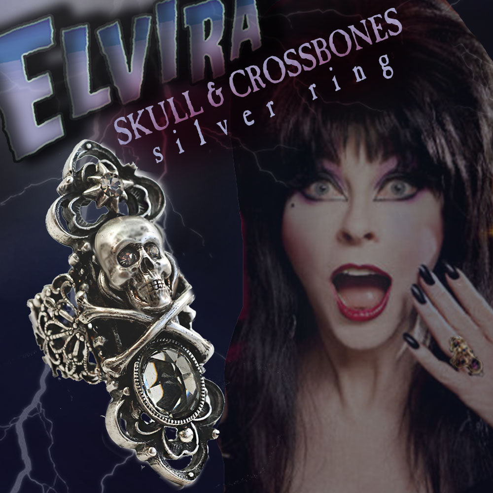 Elvira's Skull & Crossbones Ring EL_R112