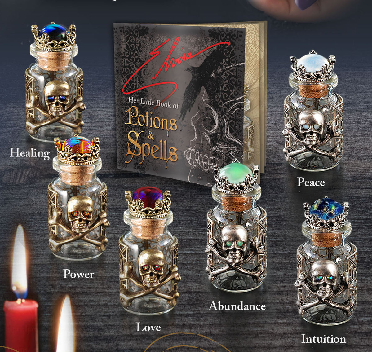 Elvira's Poison Bottles - Limited Edition! - sweetromanceonlinejewelry