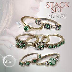 Emerald Stackable Rings