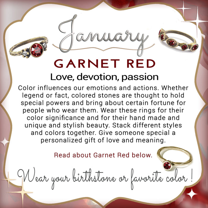 Stackable January Birthstone Ring - Garnet