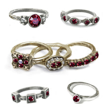 Load image into Gallery viewer, Stackable July Birthstone Ring - Ruby Red
