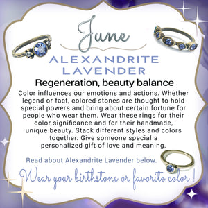 Stackable June Birthstone Ring - Alexandrite Lavender