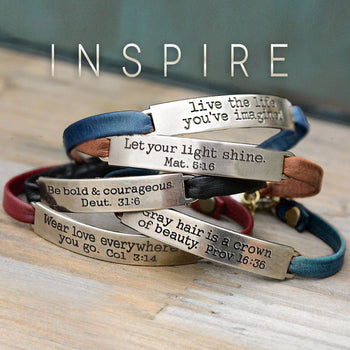 Inspirational Message Leather Bracelets
