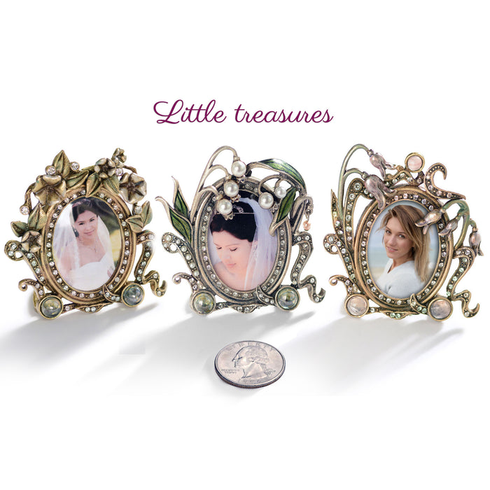 Set of 3 Miniature Art Nouveau Picture Photo Frames