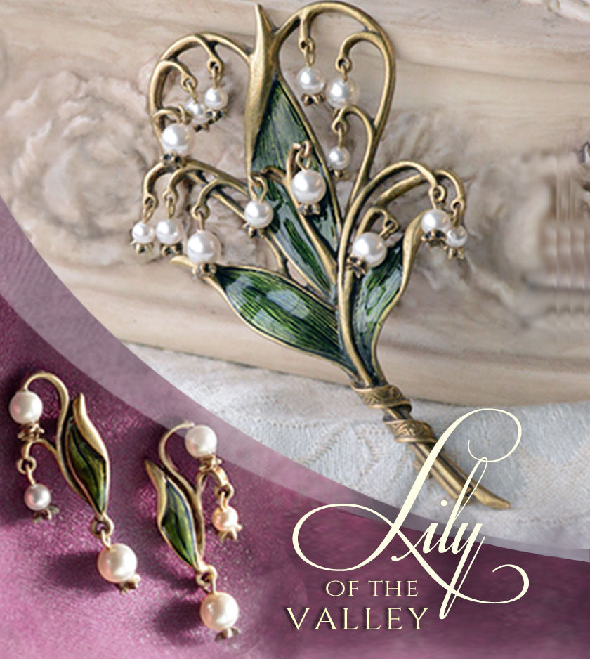 Lily of the Valley Brooch  P585