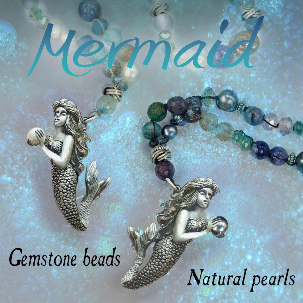 Mermaid Beaded Ocean Necklace N1362