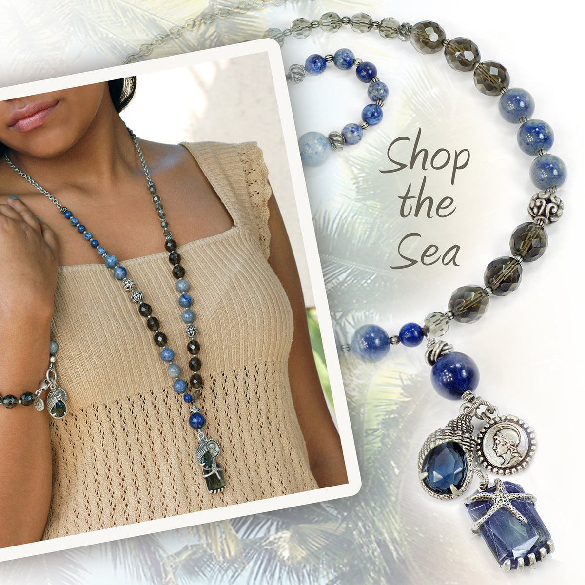 Lost Treasure Gemstone Bead Necklace N1376