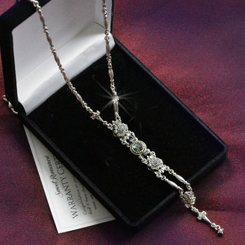 Art Deco Starlight Silver Y Necklace N1445