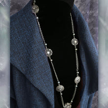 Load image into Gallery viewer, Celtic Clover & Pearls Layering Necklace N1459