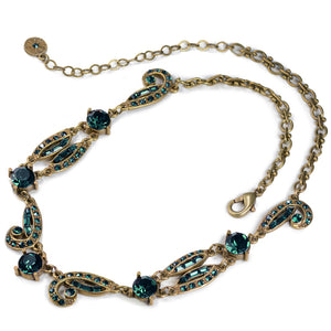 Art Deco Crystal Necklace N1616