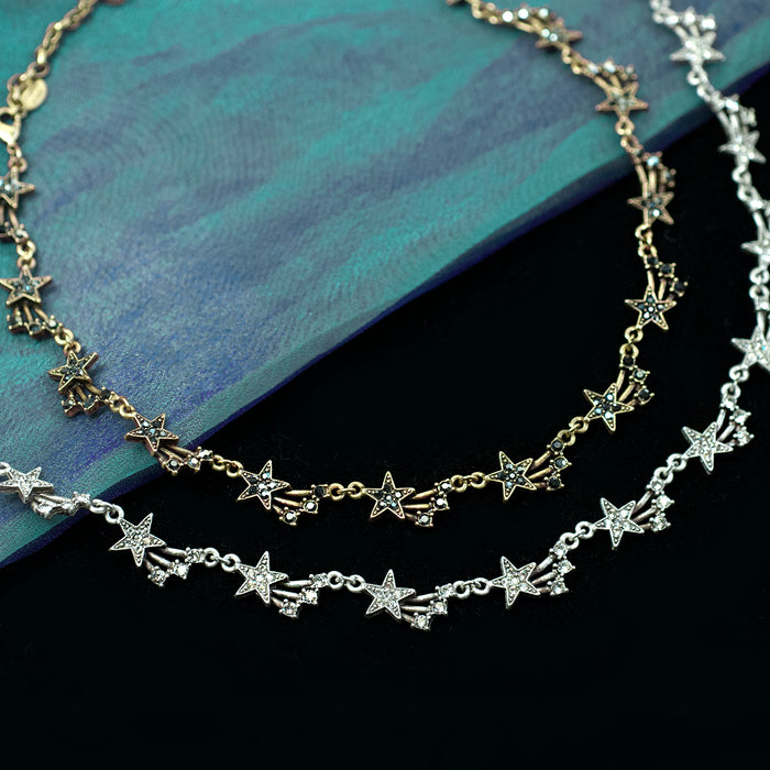 Shooting Star Collar Necklace N1625 - sweetromanceonlinejewelry