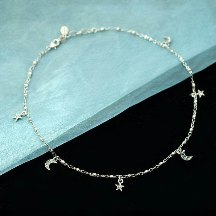 Star & Moon Charm Necklace N1629 - sweetromanceonlinejewelry