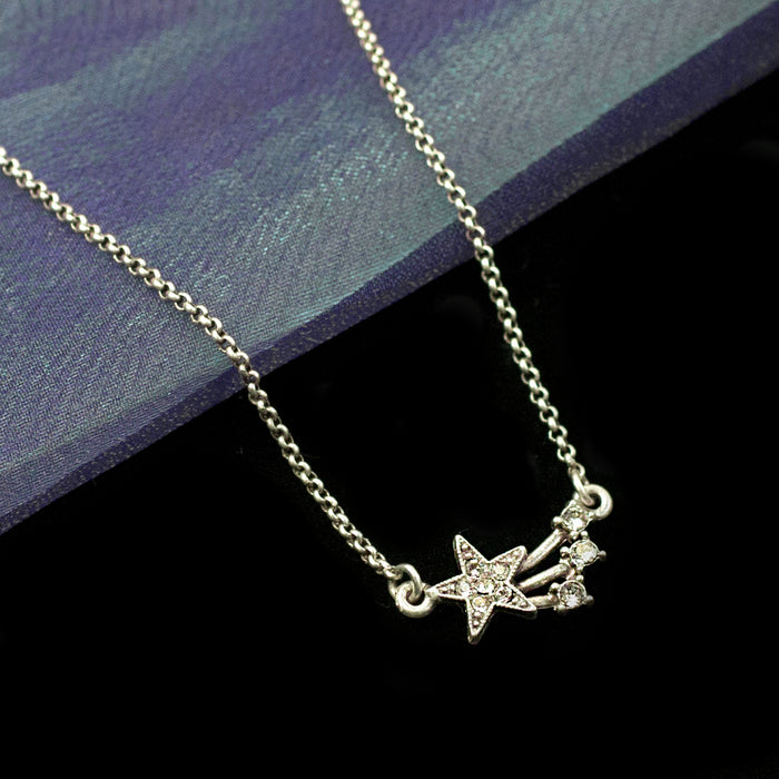 Shooting Star Necklace N1642 - sweetromanceonlinejewelry