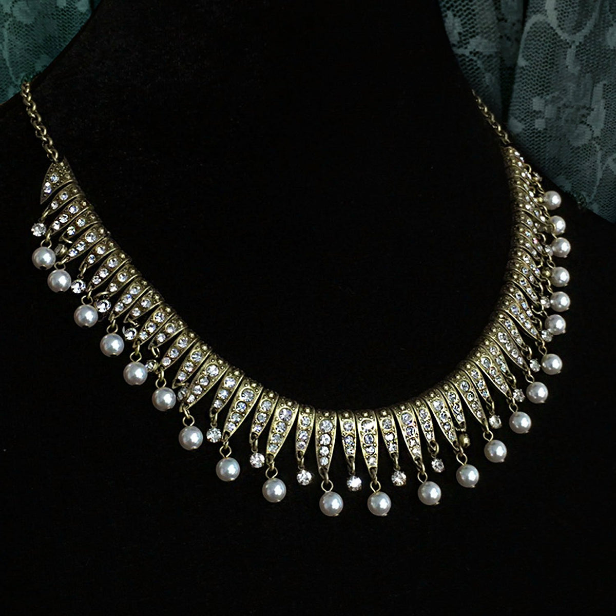 Vintage Art Deco Statement Necklace & Earrings Set