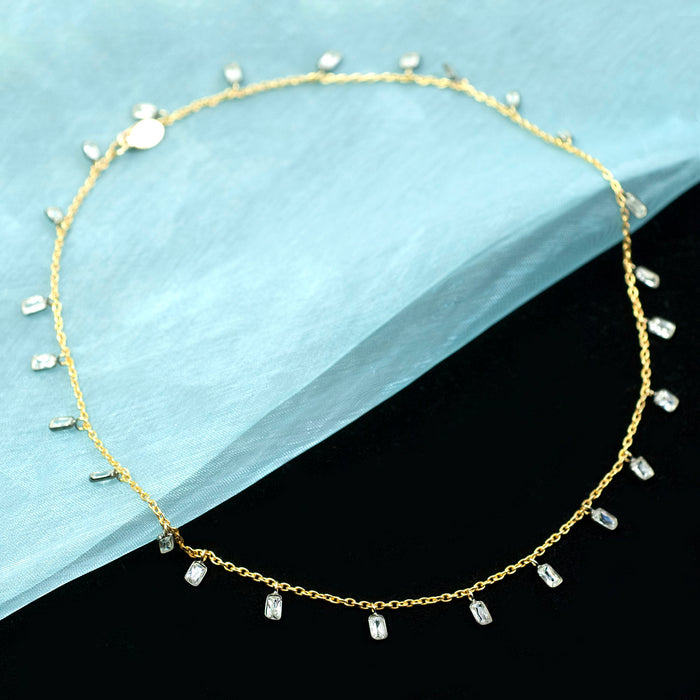 Crystal Confetti Necklace N1701 - sweetromanceonlinejewelry