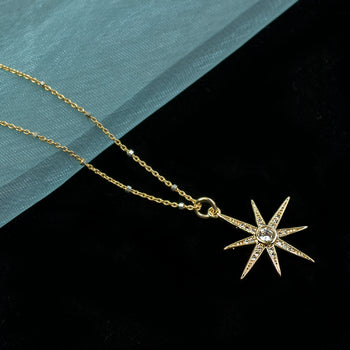 North Star Pendant Necklace N1702 - sweetromanceonlinejewelry