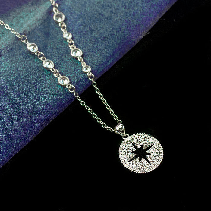 Open Star Necklace N1706 - sweetromanceonlinejewelry