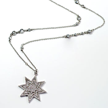 Star Blaze Necklace N1707 - sweetromanceonlinejewelry