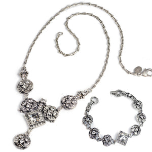 Art Deco Diamond Harlequin Jewelry Set - sweetromanceonlinejewelry
