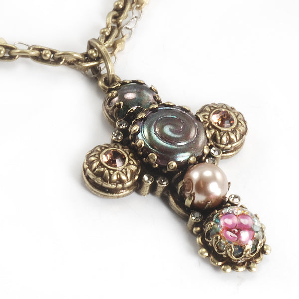 Ornate Cross Necklace N662
