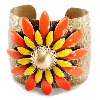 Pop Art Double Daisy Cuff - LAST ONE!!!