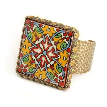 Ceramica Tile Cuff Bracelet - ONLY 5 LEFT!