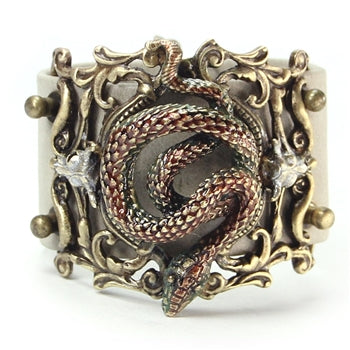 Rattlesnake Leather Bracelet