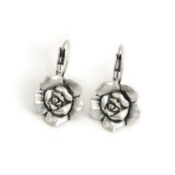 Camellia Rose Earrings - ONLY 2 LEFT!