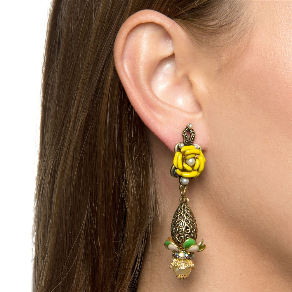 Filigree Drop Earrings E231