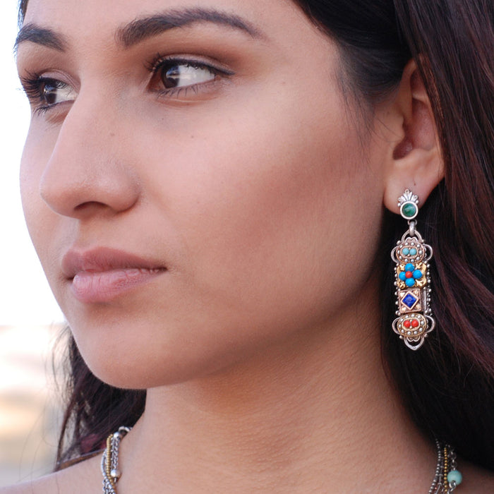 Desert Gypsy Linear Earrings E338 - sweetromanceonlinejewelry