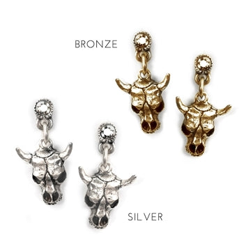Steer Skull Earrings E345