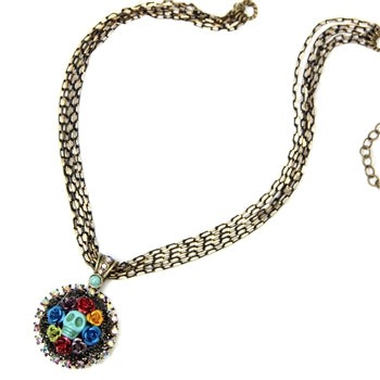 Skull Wreath Necklace N149