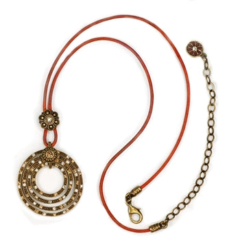 Four Circle Ranch Necklace N272-BZ - sweetromanceonlinejewelry