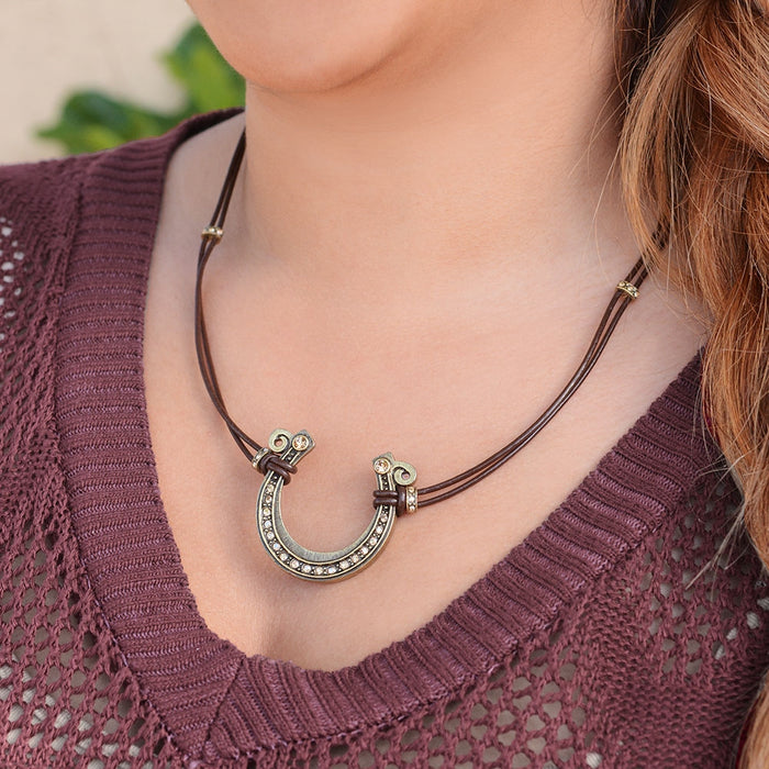 Get Lucky Horseshoe Necklace N286