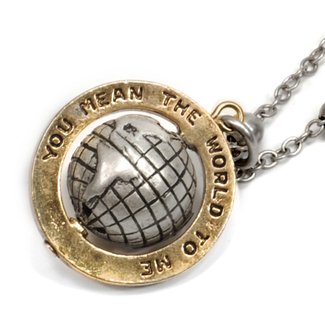 """You mean the world to me"" Necklace OL_N315"
