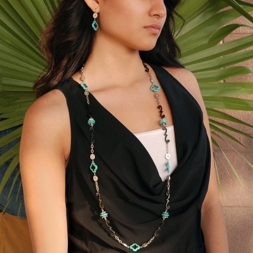 Southwestern Iron Layering Necklace