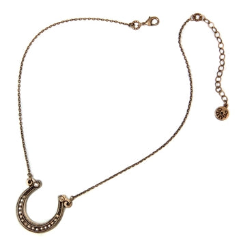 Get Lucky Horseshoe on Chain Necklace OL_N394