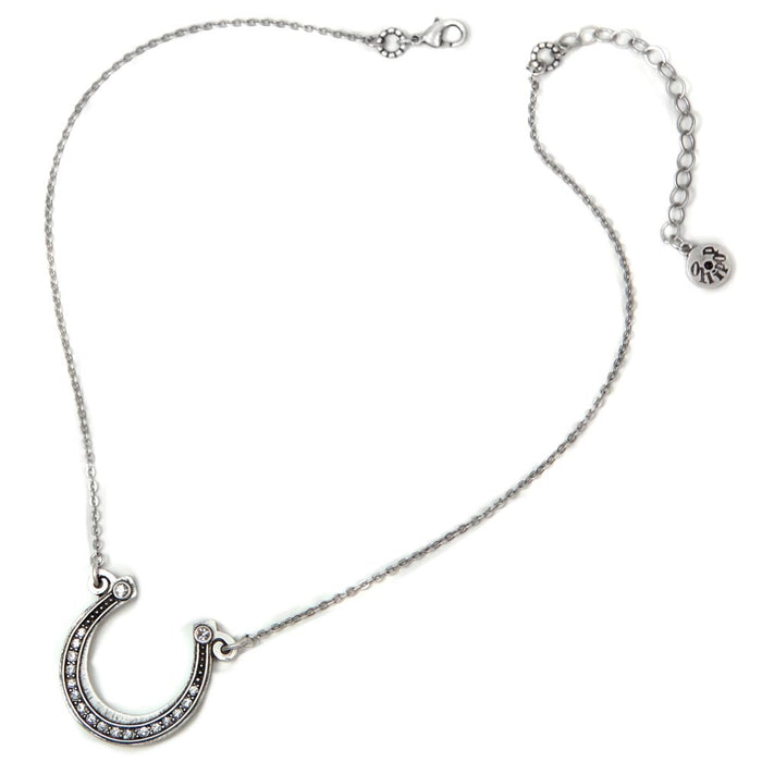Get Lucky Horseshoe on Chain Necklace OL_N394 - sweetromanceonlinejewelry