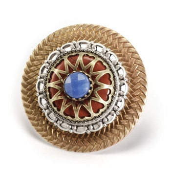 Stacked Medallion Brooch P102 - sweetromanceonlinejewelry