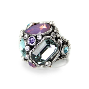 Crystal Geometry Ring OL_R1180 - sweetromanceonlinejewelry