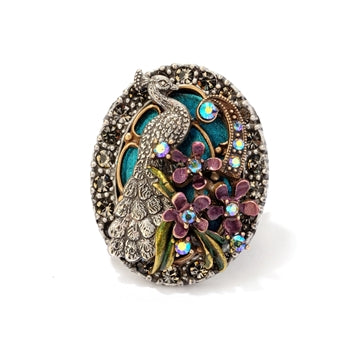 Peacock Flourish Ring - sweetromanceonlinejewelry
