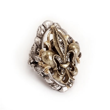 French Ritz Fleur De Lis Ring - sweetromanceonlinejewelry