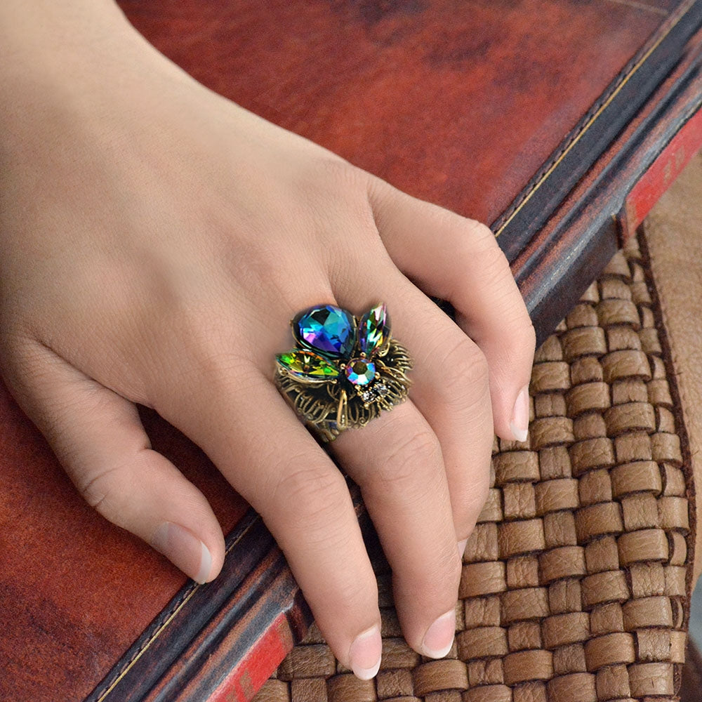 Jeweled Bee Ring - sweetromanceonlinejewelry