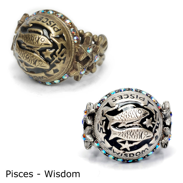 Pisces Zodiac Rings R426-PC - sweetromanceonlinejewelry